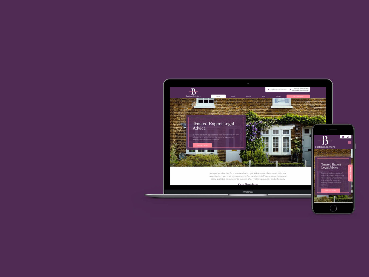 Small Business Package Website for Burtons Solicitors by Supersonic Playground